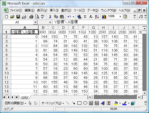 CSVファイル保存