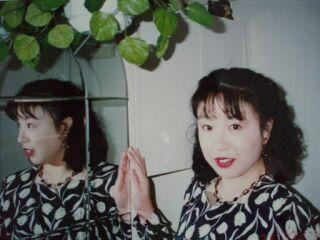 2010直美・お洒落した直ちゃん鏡越し