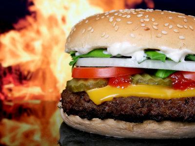ハンバーガーの肉