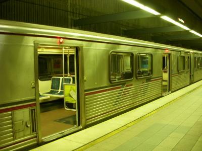 アメリカの地下鉄にて