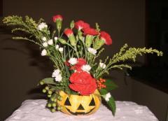 2008 ハロウィン花かご