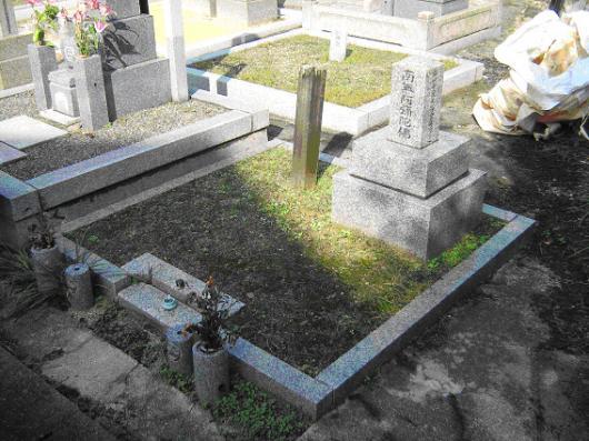 京都市 墓石 before
