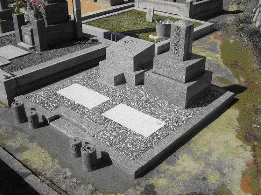 京都市 墓石 after