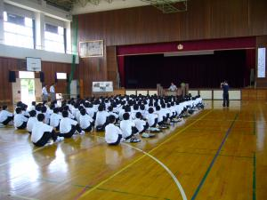中学講演会 1