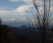 城山山頂からの富士002
