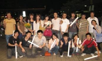四川大地震復興支援コンサート終了後