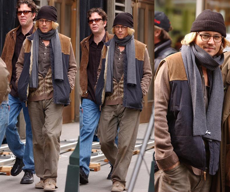 johnnY DEPP SUPERBAD 2008 来日 シークレットウィンドウ メガネ 眼鏡 ウォレットチェーン リブラチェーン オスカー アカデミー賞 試写会 プレミア ヒルズ スウィーニートッド SWEENEY TODD めがね FLA