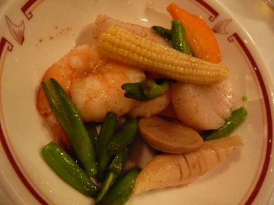 野菜の炒め物@筑紫