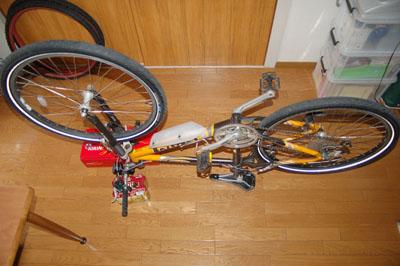 逆さま自転車