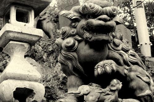 新勝寺 狛犬2