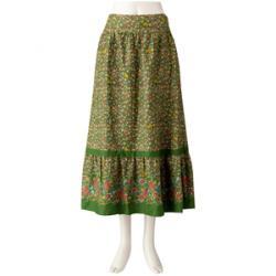 Jocomomola(ホコモモラ) ◆果樹園プリントスカート