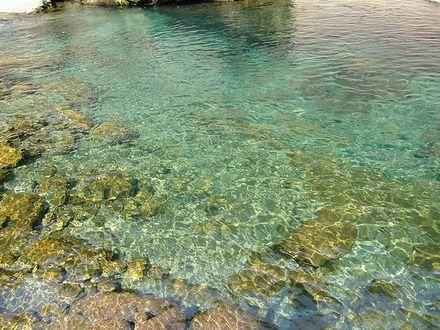 富郷渓谷で水遊び