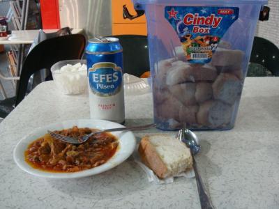 羊肉の煮込み&エフェスビール
