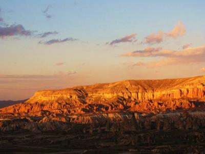 ギョレメの丘の夕景①