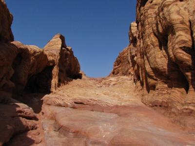 波打つ岩の道