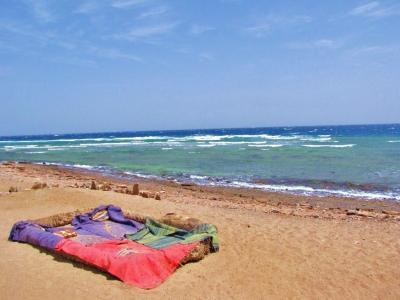 砂浜の休息所①