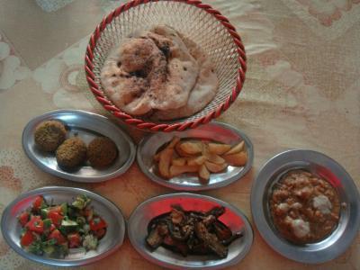 エジプト流朝食セット@ルクソール