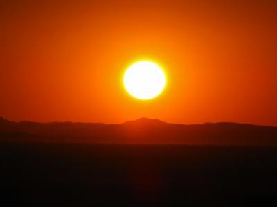 確認した夕陽@メルズーガ