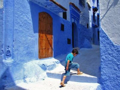 青と白の空間②@シャフシャウエン