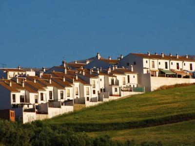 白い家並の丘④