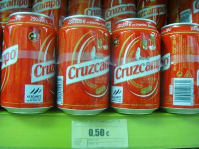 ビール : 0.5ユーロ@セビーリャ