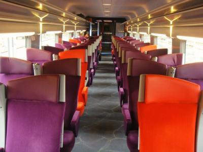 TGV車内@ボルドー