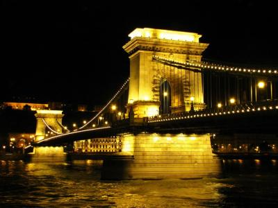 くさり橋・夜景ver.②@ブダペスト