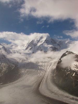 氷河の迫力①@ヴァリス・アルプス