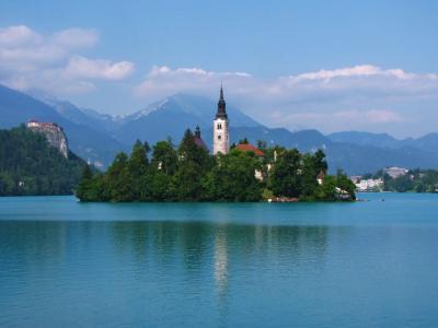 スロヴィニアが誇る美景@ブレッド湖