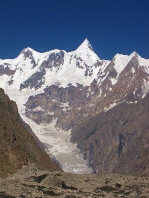 恐怖のグルキン氷河の上流