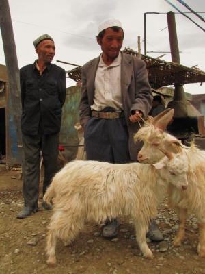 山羊売りのおじさん@カシュガル