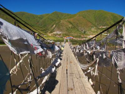 もう怖くない吊り橋@班瑪