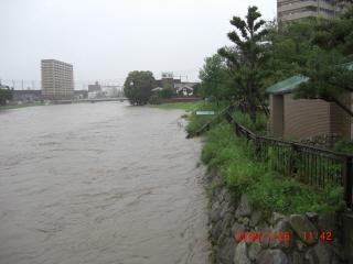 那珂川増水