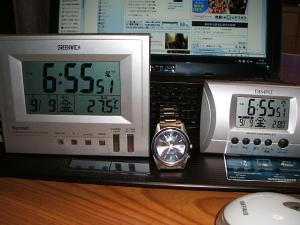 みんな電波時計だよ