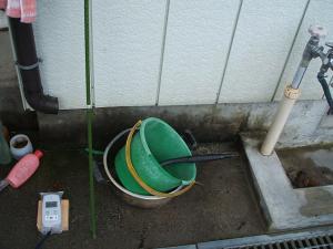 洗い場と雨どい02