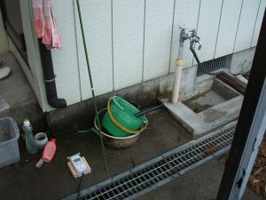 洗い場と雨どい01