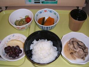 胆沢病院の冬至のお昼ご飯