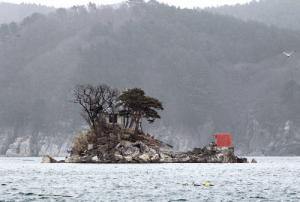 ひょうたん島のモデルとされる蓬莱島
