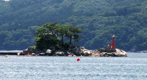 被災前の蓬莱島