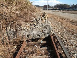 列車が走れない線路