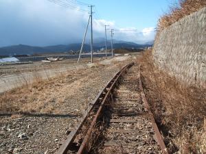 列車が走らない線路