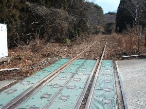 列車が来ない線路