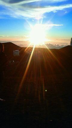 標高4200mからの太陽。