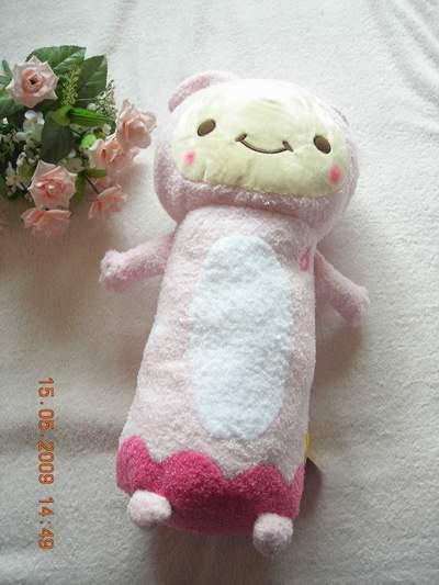 粉紅兔抱枕