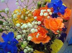 次男が教育実習最終日にもらった花束