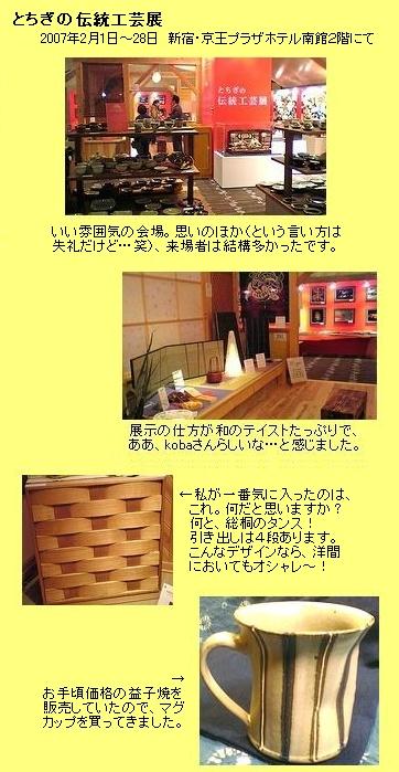 栃木の伝統工芸品展(於:新宿京王プラザ)