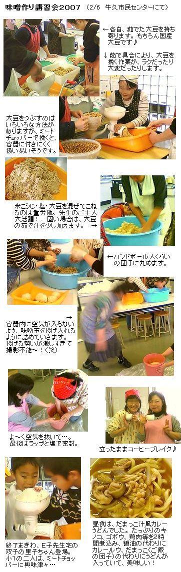 味噌の作り方(2007味噌作り講習会)