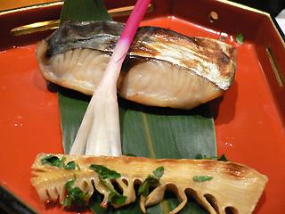 焼き魚と焼き筍