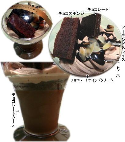 チョコレートケーキパフェ