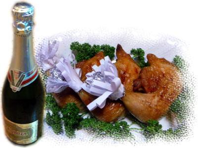 チキンとシャンパン